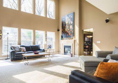 Salon minimaliste par architecte intérieur